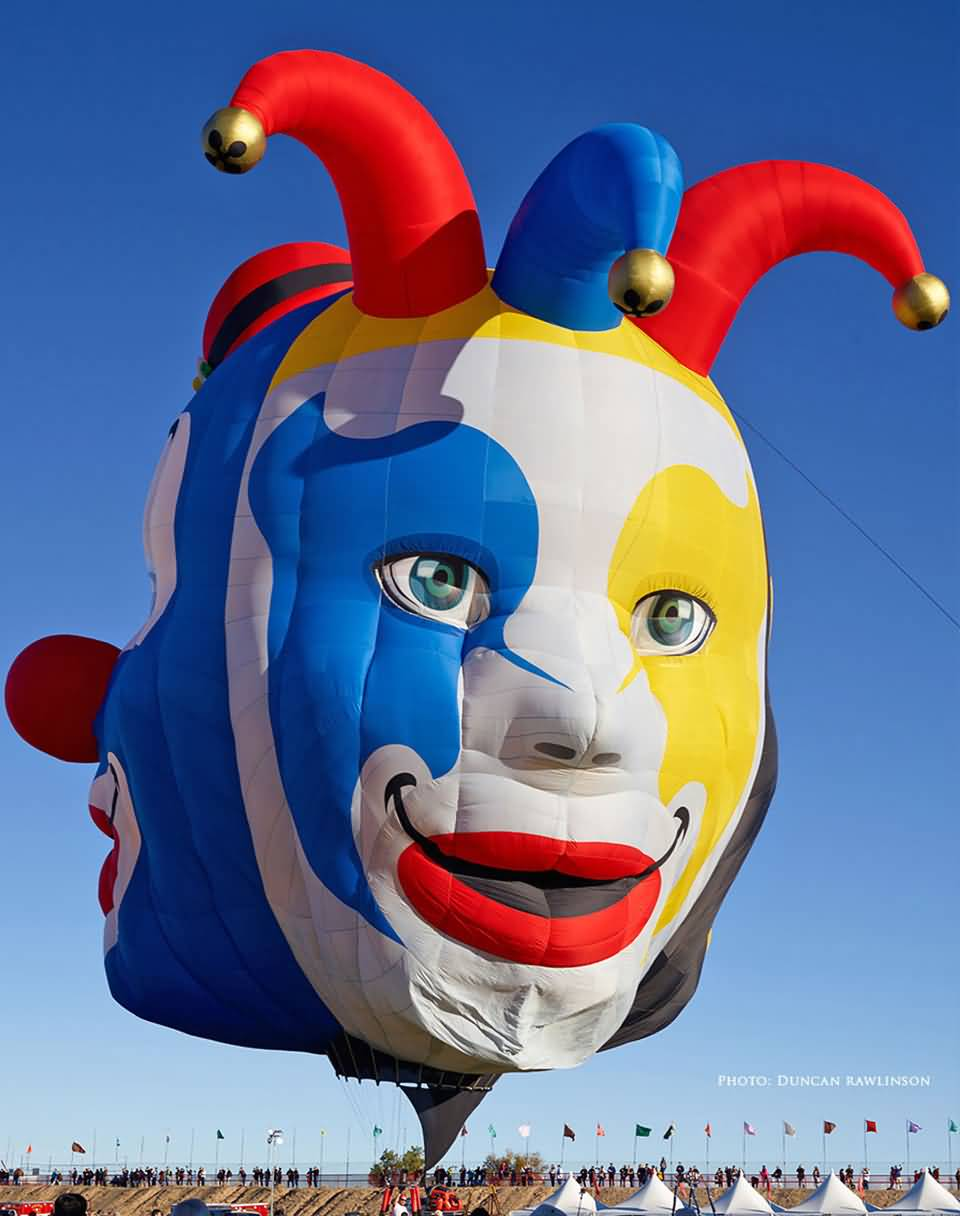 Jester-Mask-Air-Balloon-At-Albuquerque-Balloon-Festival