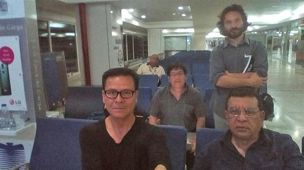 Rodrigo Abd (de pie), junto a los peruanos Ricardo Burgos, Leónidas Chávez y Armando Muñoz