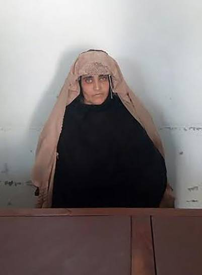 Sharbat Gula, arrestada por supuesto falso documento