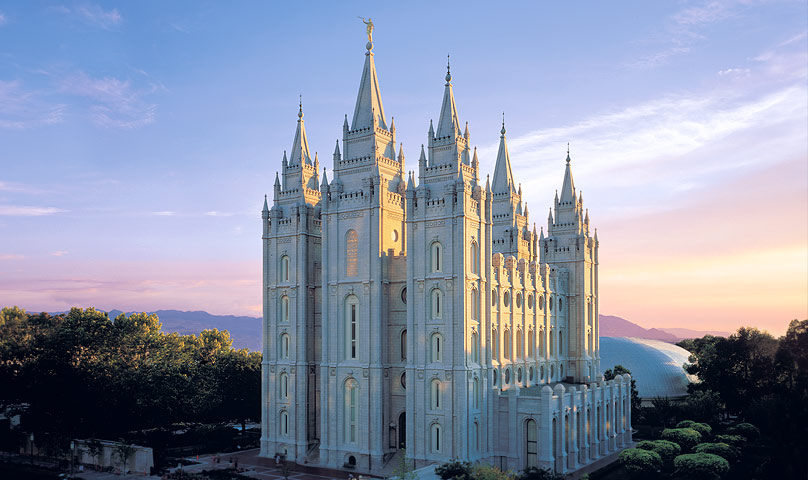 Mormonismo: Templo de Salt Lake City,  Utah, Estados Unidos