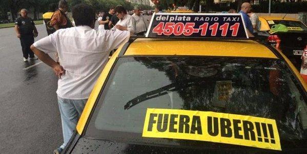 taxi fuera uber