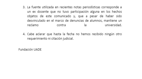 comunicado uade1