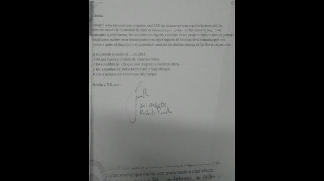La declaración judicial del dueño del hotel en la Justicia