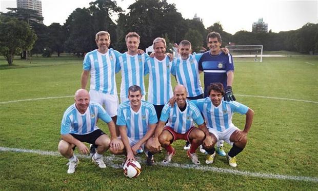 Arriba: Frigerio, De Andreis, Ibarra, Grecco y Avruj; abajo: MacAllister, Peña, Dietrich y Lacunza. Foto: Twitter