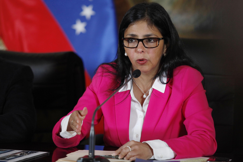 Delcy Rodríguez, presidente de la Asamblea Constituyente.