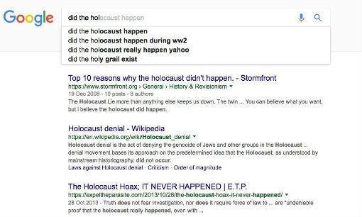 google holocausto