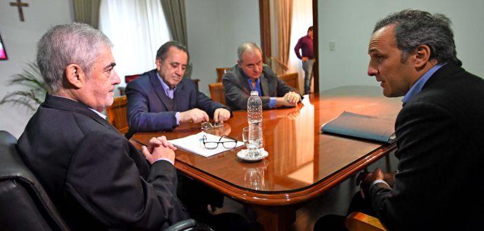 Mario Das Neves, junto al titular de PAE