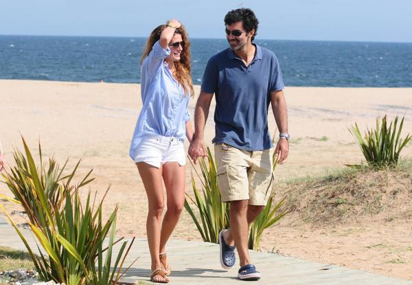 Urtubey y Macedo, en sus recientes vacaciones en Punta del Este
