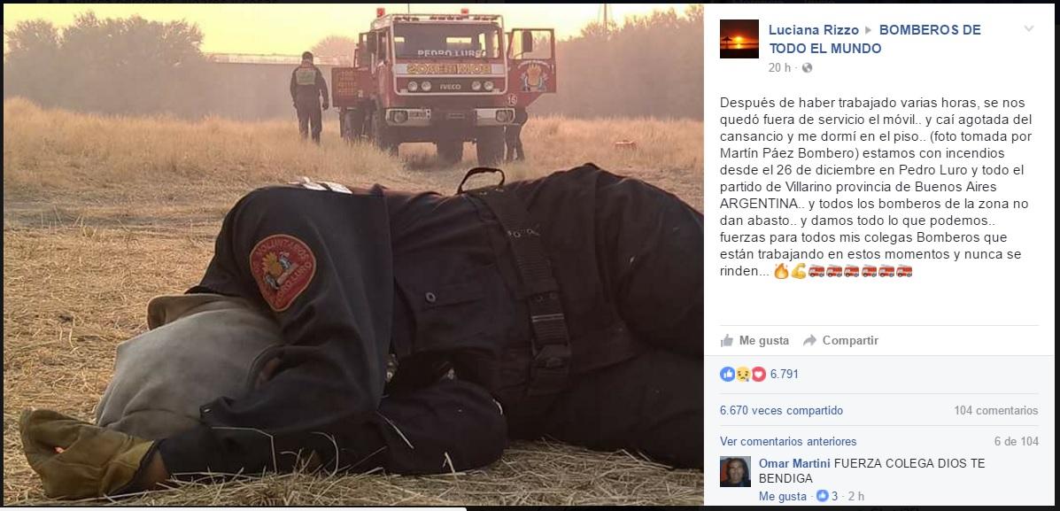bombero viral