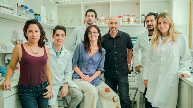 Los doctores Tomás Falzone, Elena Avale (centro) y equipo.