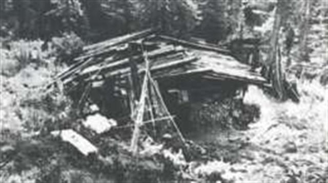 Esta fue la cabaña donde vivían los Lykov cuando fueron encontrados en 1978.