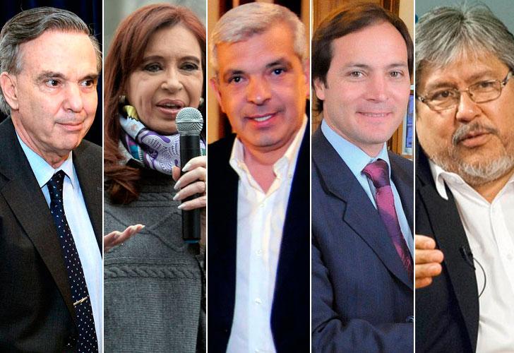 Pichetto, Cristina Kirchner, Domínguez, Espinola y Navarro