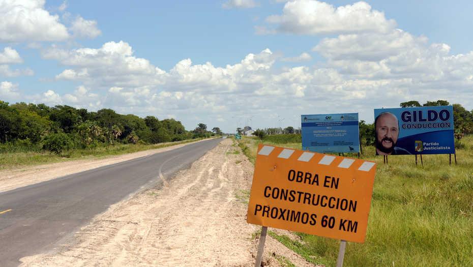 La Ruta 2, repavimentada tres veces con fondos nacionales y en mal estado.