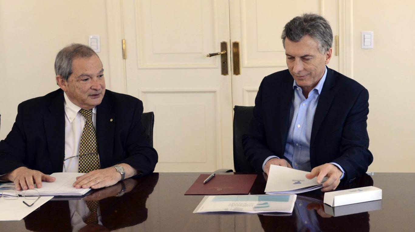 Jorge Lemus y Mauricio Macri