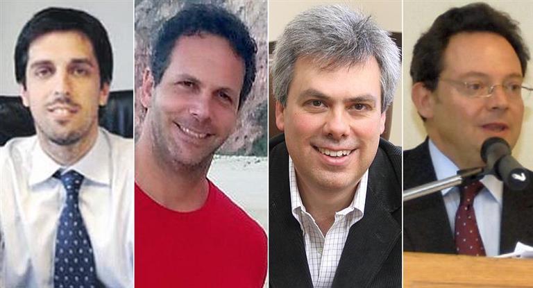 Rodrigo Pena (Secretaría de Hacienda); Guido Sandleris (jefe de asesores), Sebastián Galiani (Política Económica) y Ariel Sigal (jefatura de Gabinete del Ministerio de Hacienda)