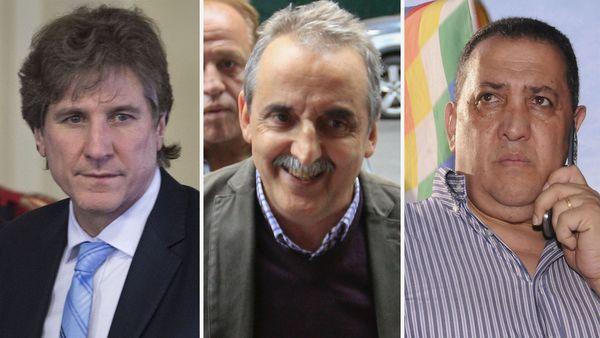 Amado Boudou, Guillermo Moreno y Luis D'Elía