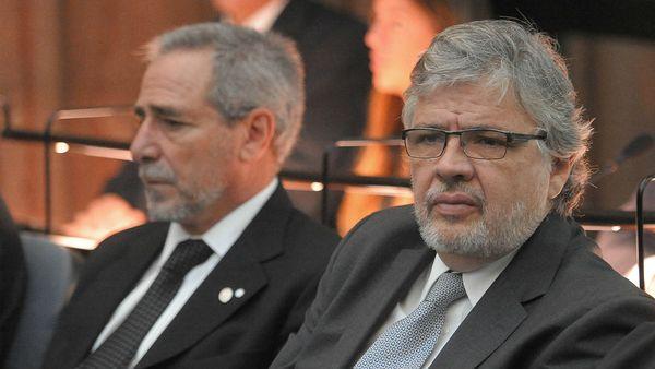 Ricardo Jaime y Juan Pablo Schiavi durante el juicio que se celebró en 2015