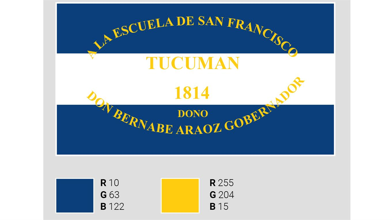 Recreación de la bandera analizada