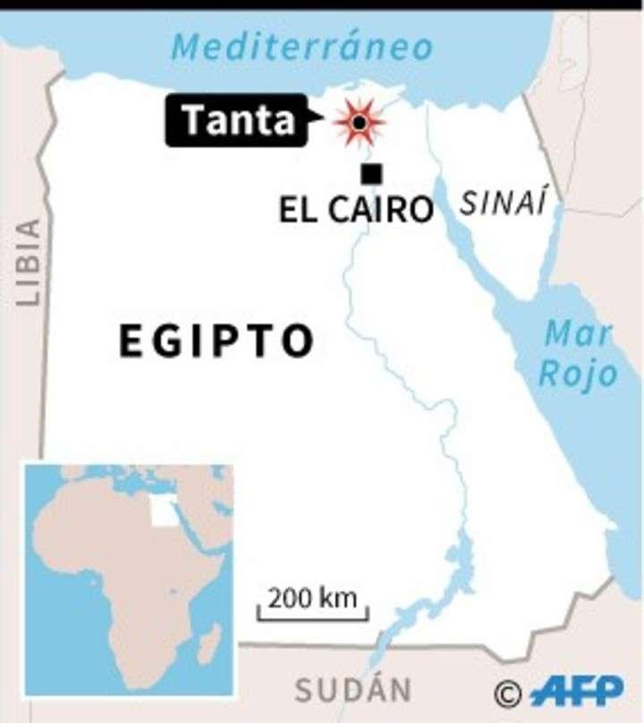Localización del atentado con bomba contra una iglesia copta en Tanta, Egipto