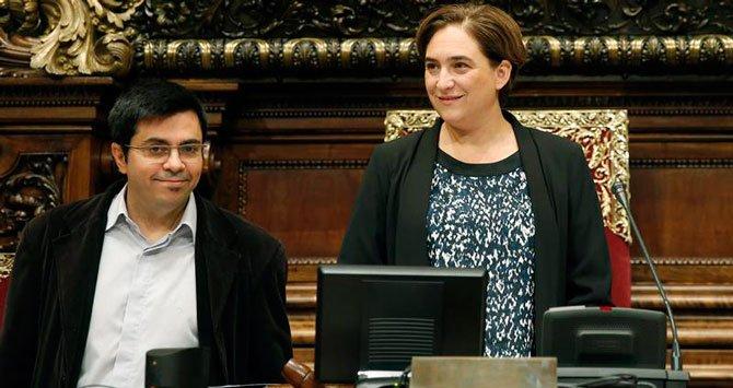 Gerardo Pisarello y Ada Colau