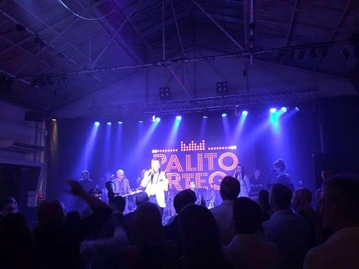 Euforia. La mayoría de los ministros y funcionarios saltaron al ritmo de las canciones de Palito.