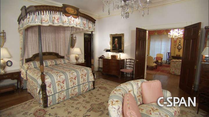 Uno de los dormitorios de la residencia