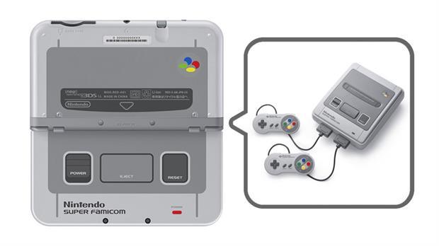 Así se veía la portátil 3DS con el diseño de la Super Famicom. Ahora Nintendo planea relanzar su consola como SNES Mini a fin de año.