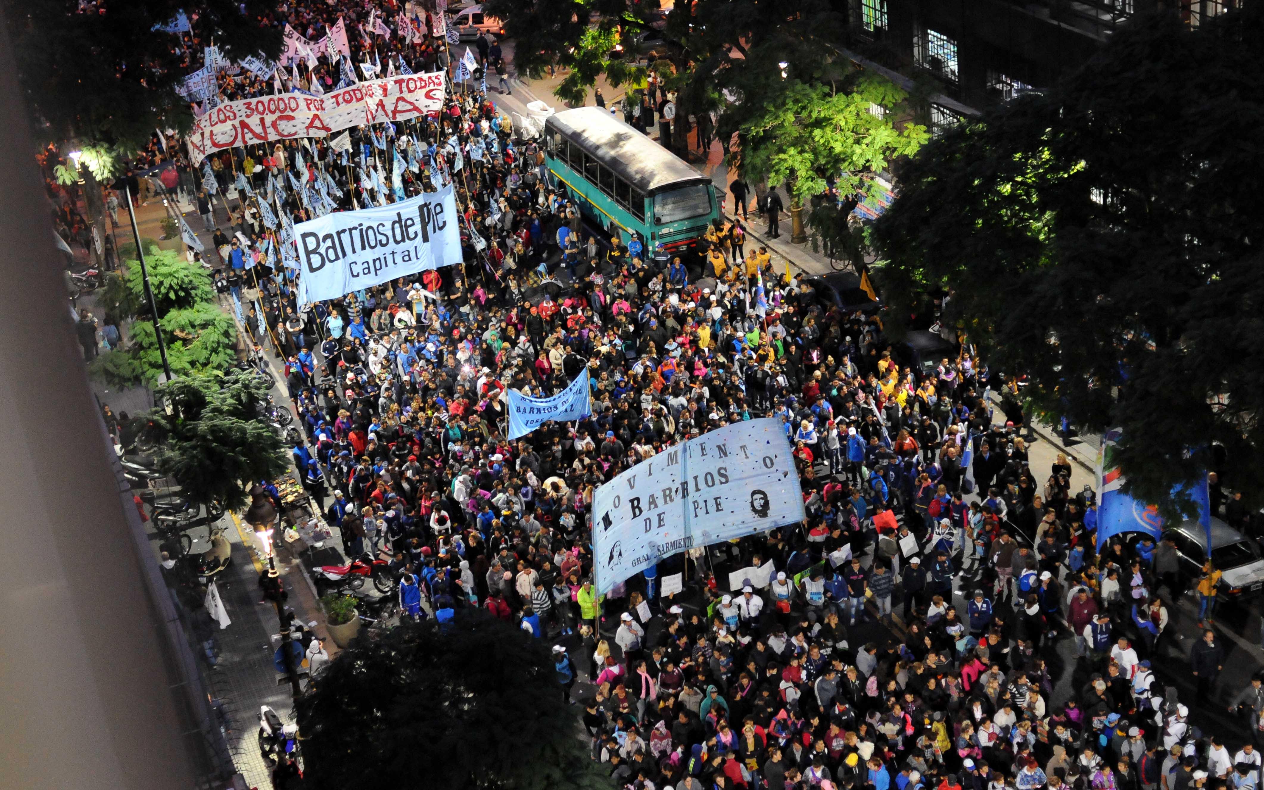 DYN42, BUENOS AIRES 10/05/17, DURANTE LA MARCHA CONTRA EL 2X1.FOTO:DYN/CARLOS GRECO.