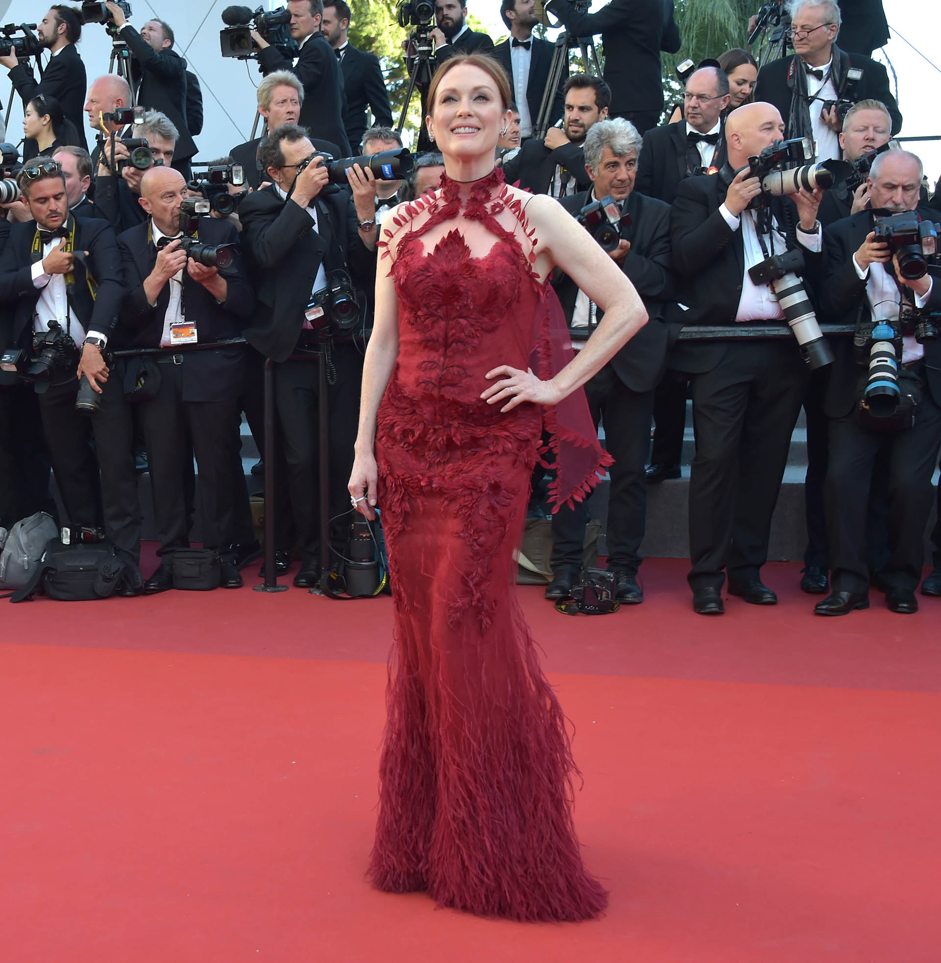 "CANNES, FRANCE - MAY 17:  Actress Julianne Moore attends the ""Ismael's Ghosts (Les Fantomes d'Ismael)"" screening and Opening Gala during the 70th annual Cannes Film Festival at Palais des Festivals on May 17, 2017 in Cannes, France.  (Photo by Pascal Le Segretain/Getty Images)"