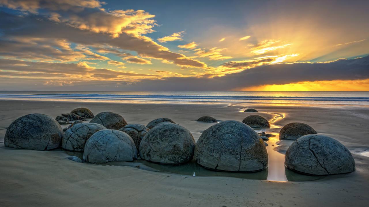 Moeraki Boulders, Nueva Zelanda