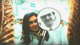 Cristina Kirchner y Batista en una planta frigorífica de Merlo