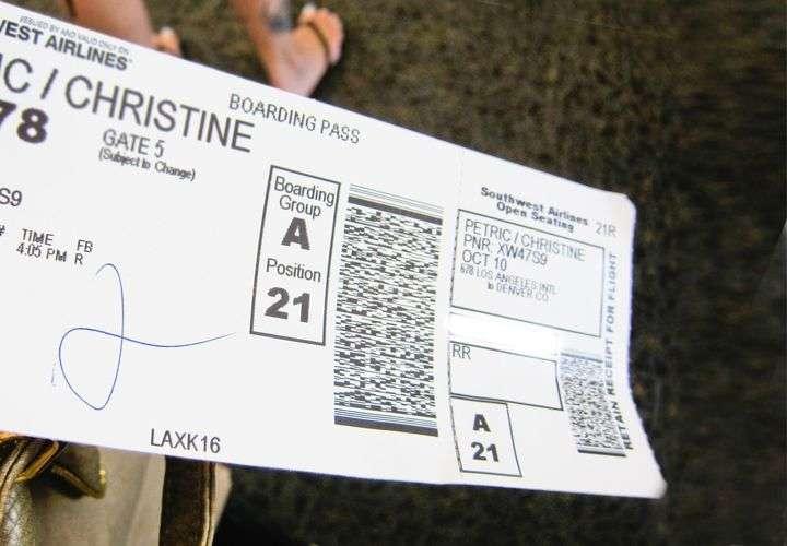 Aeropuertos - tarjeta de embarque