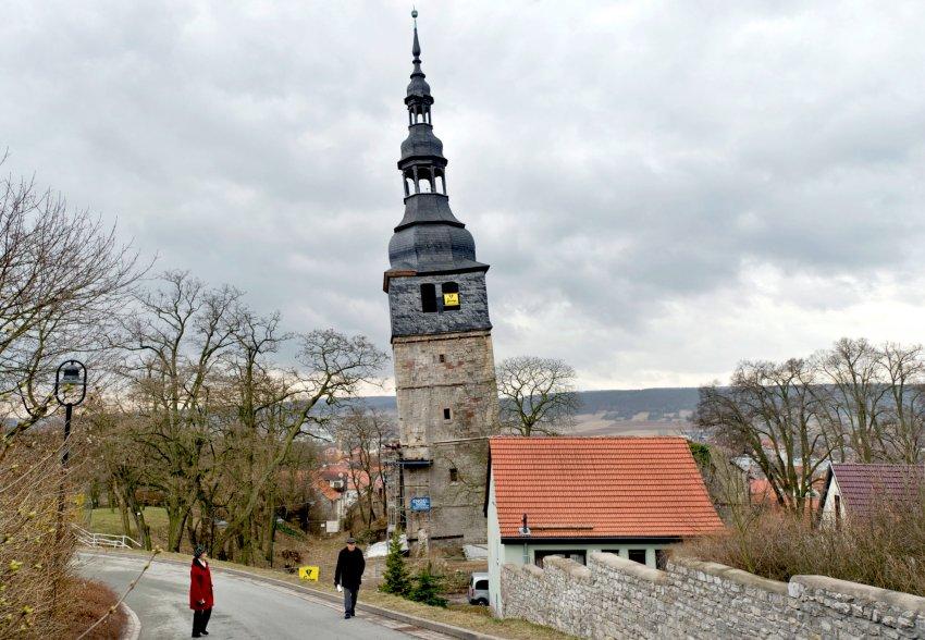 """Vorstellung des Rettungskonzepts zum """"schiefen Turm"""" in Bad Frankenhausen"""