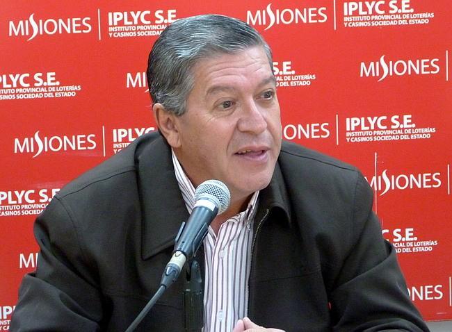 Titular del Instituto Provincial de Lotería y Casinos (IPLyC) misionero, Eduardo Torres