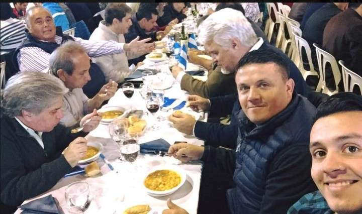 Jorge Castillo, el Rey de la Salada, en el locro del lanzamiento de la candidatura de Martín Lousteau en Costa Salguero.