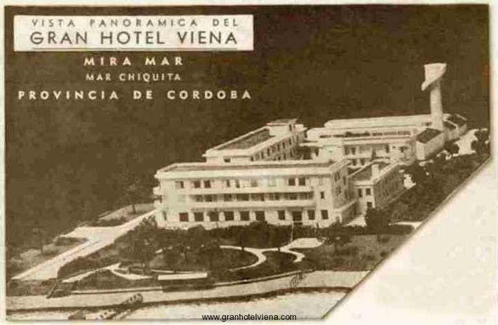 El Gran Hotel Viena contaba con tres edificios, baños termales y piscina de agua dulce y salada.