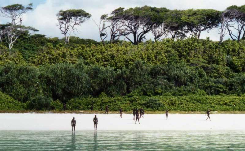 Isla Sentinel del Norte, Islas Andamán y Nicanor