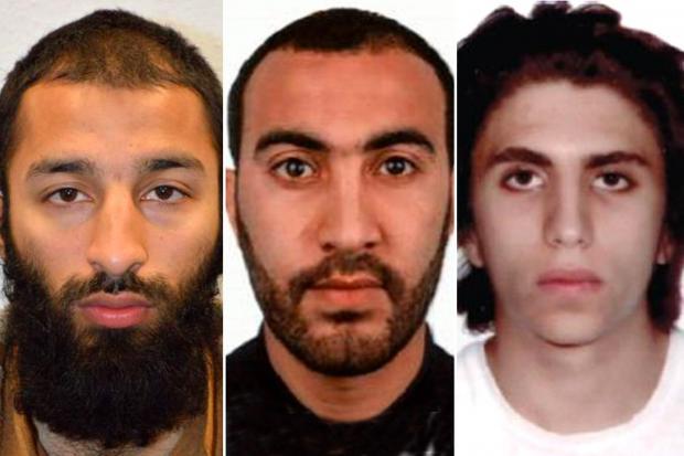 Khuram Shazad Butt, Rachid Redouane y Youssef Zaghba