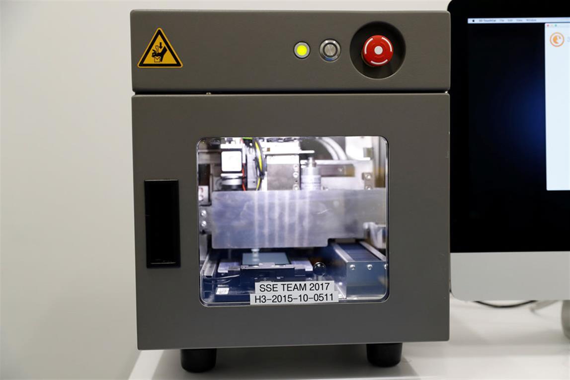 Apple ha mantenido cuidadosamente en secreto el diseño de la máquina.