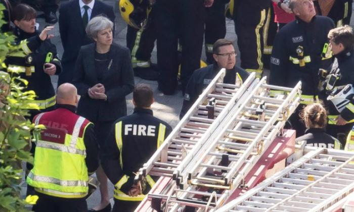Theresa May visitó el área