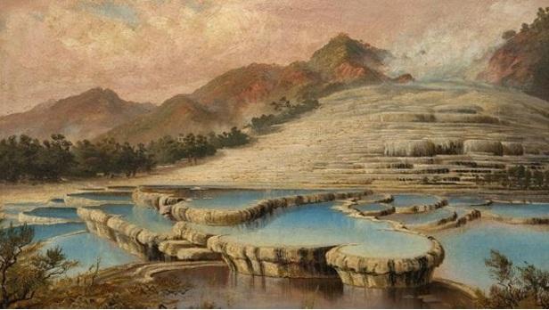 Una ilustración que muestra cómo eran Las Terrazas Rosas y Blancas.