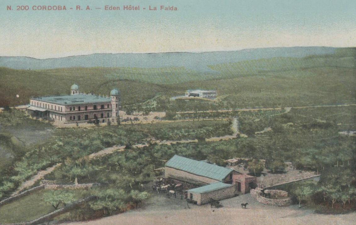 Una antigua postal promociona el Eden Hotel, en La Falda.