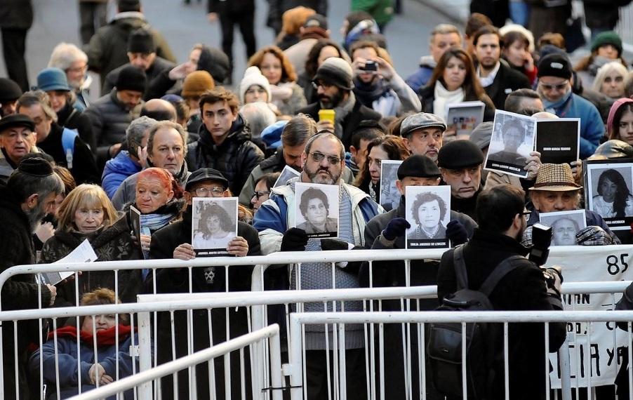 Acto AMIA, a 23 años del atentado terrorista más importante de la historia argentina.