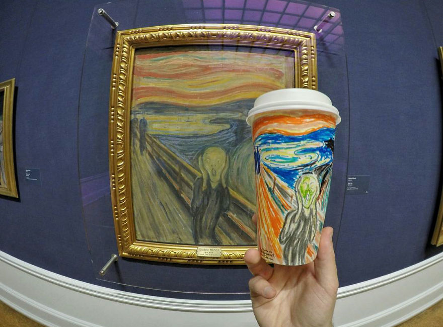 Artist-travels-the-world-and-uses-paper-coffee-cups-as-his-canvas-to-reflect-what-he-sees-59759d50e787e__880