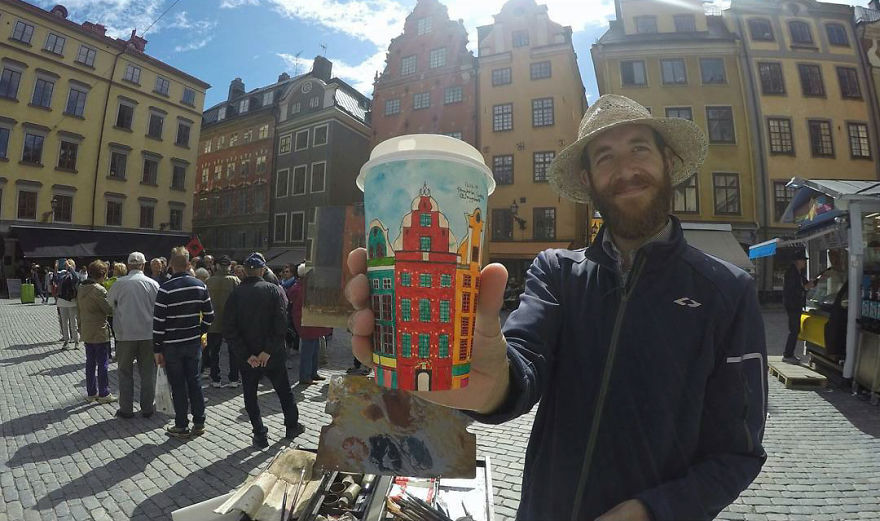 Artist-travels-the-world-and-uses-paper-coffee-cups-as-his-canvas-to-reflect-what-he-sees-59759d5691539__880