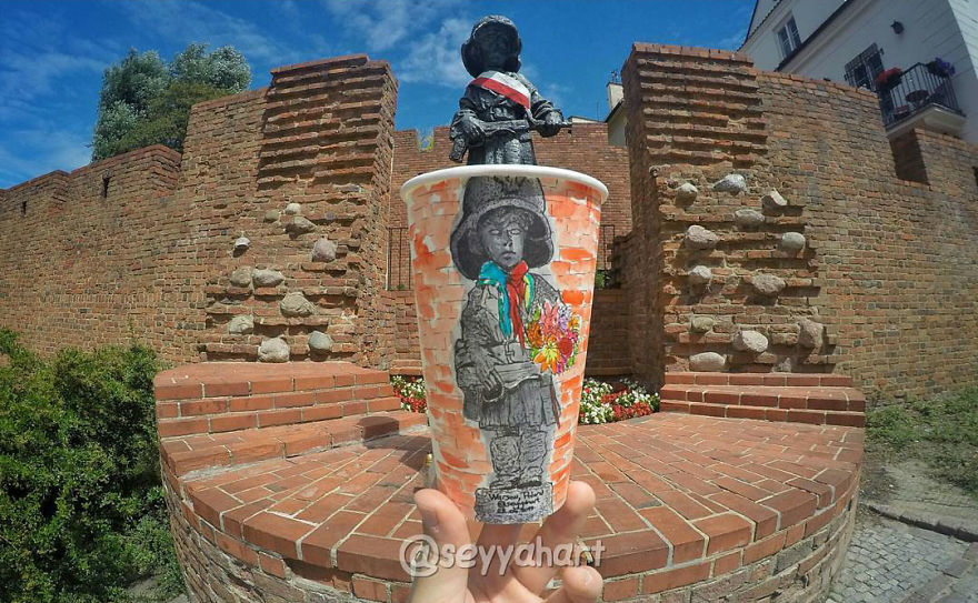 Artist-travels-the-world-and-uses-paper-coffee-cups-as-his-canvas-to-reflect-what-he-sees-59759d5ab17e2__880