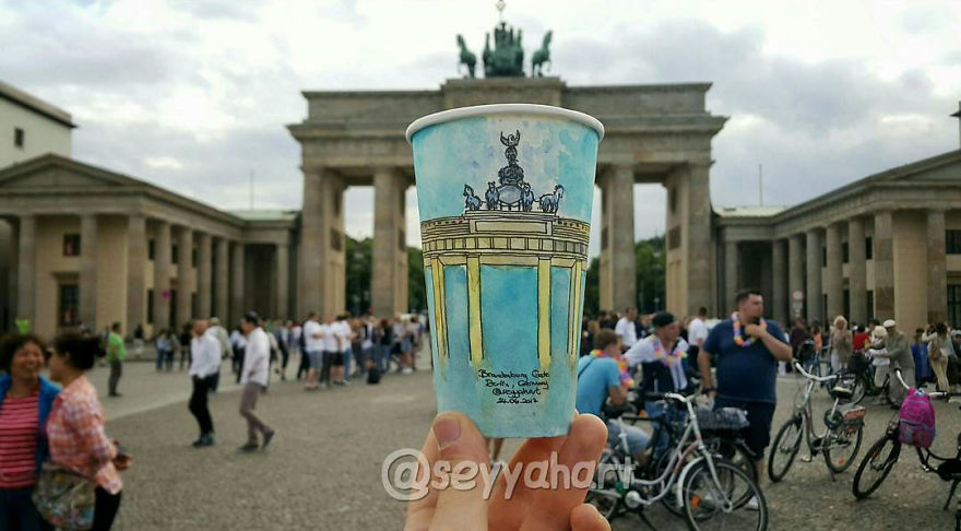 Artist-travels-the-world-and-uses-paper-coffee-cups-as-his-canvas-to-reflect-what-he-sees-59759d5c9ad79__880