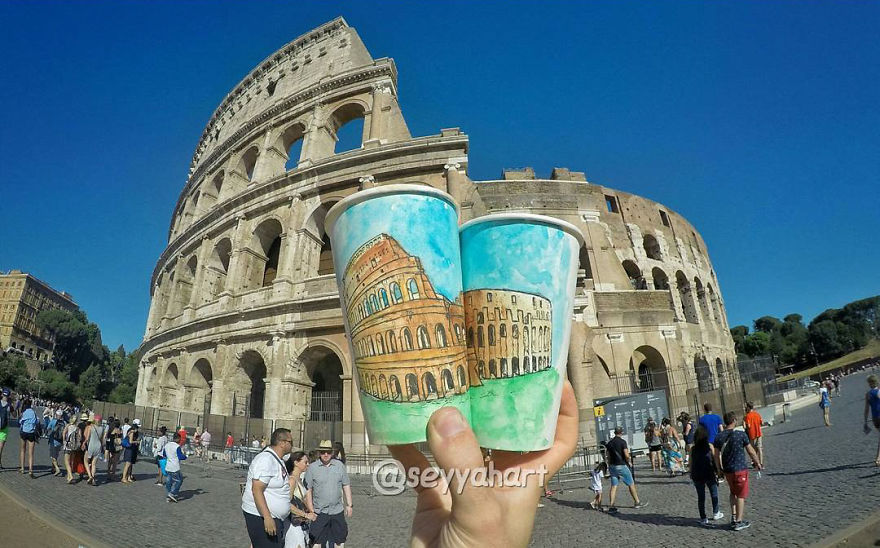 Artist-travels-the-world-and-uses-paper-coffee-cups-as-his-canvas-to-reflect-what-he-sees-59759d639c09a__880