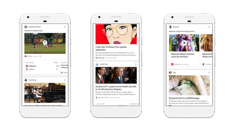 Google estará más activo en la propuesta de contenidos dentro de las tarjetas del servicio Now, con el objetivo de emular el newsfeed de Facebook.