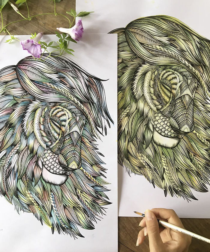intricate-animal-drawings-faye-halliday-595391d9860a6__700